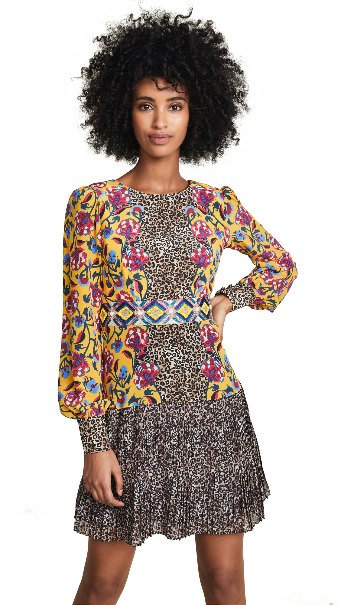 Saloni Vera Dress In Multi
