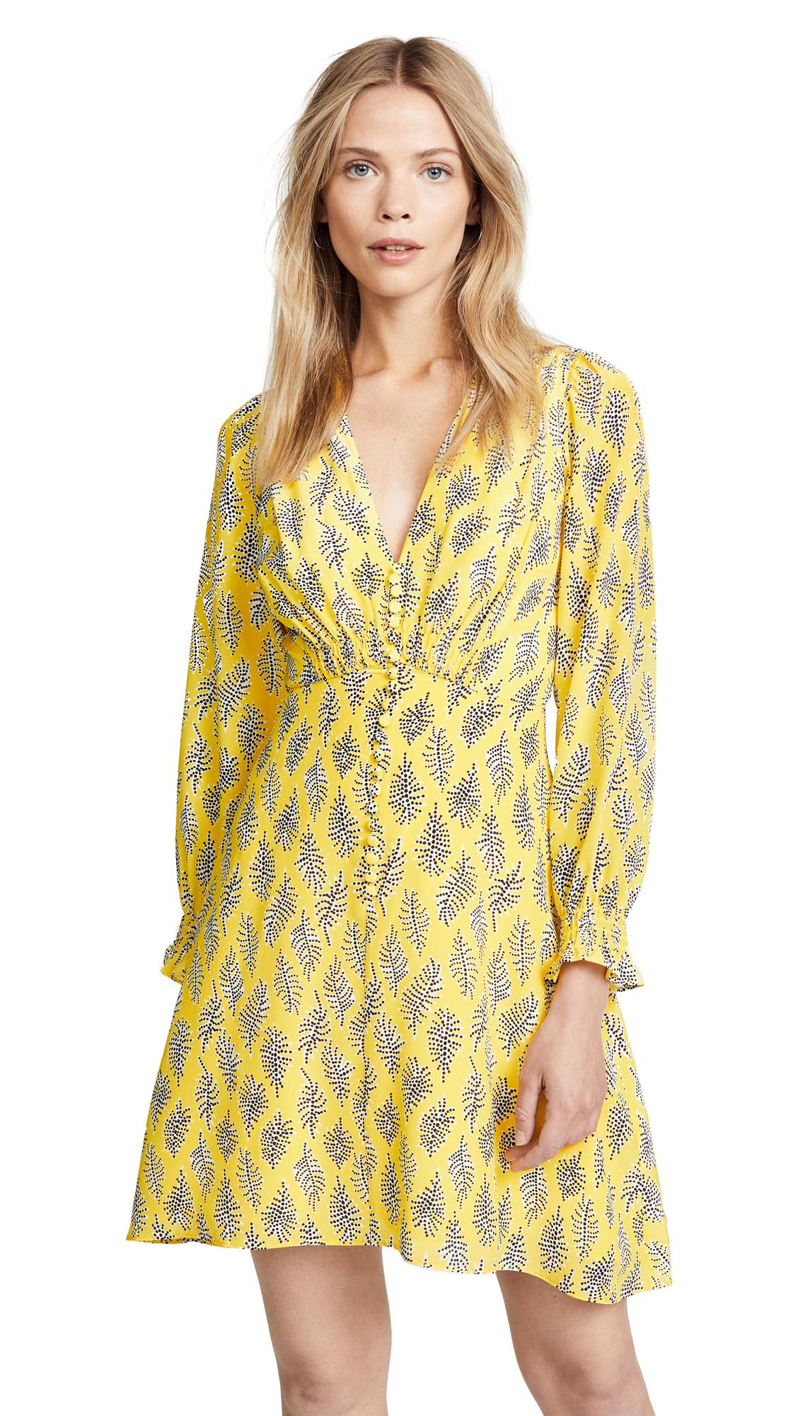 Saloni Eve Mini Dress In Golden Alga