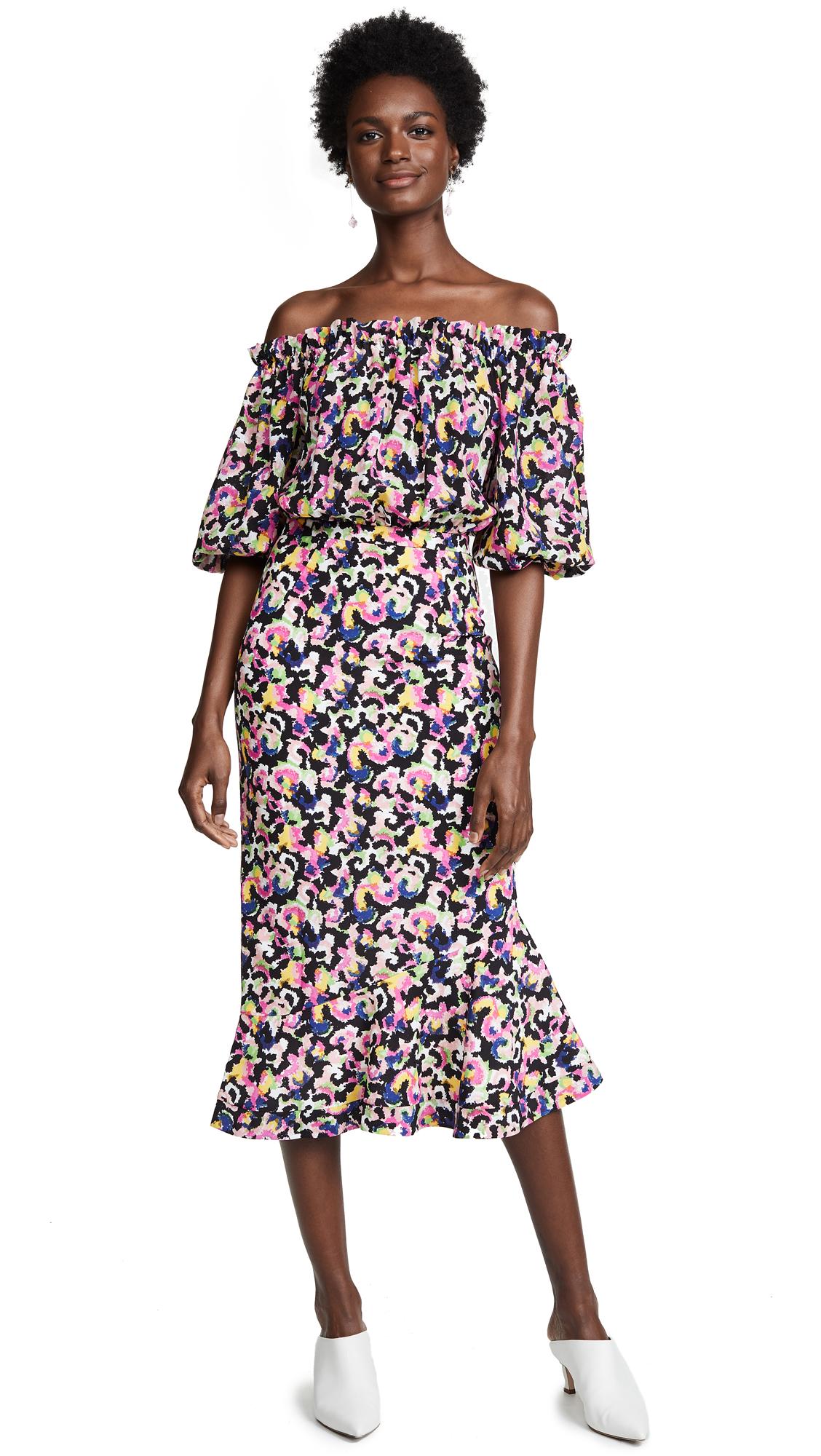 Saloni Grace Dress - Hothouse Mirage