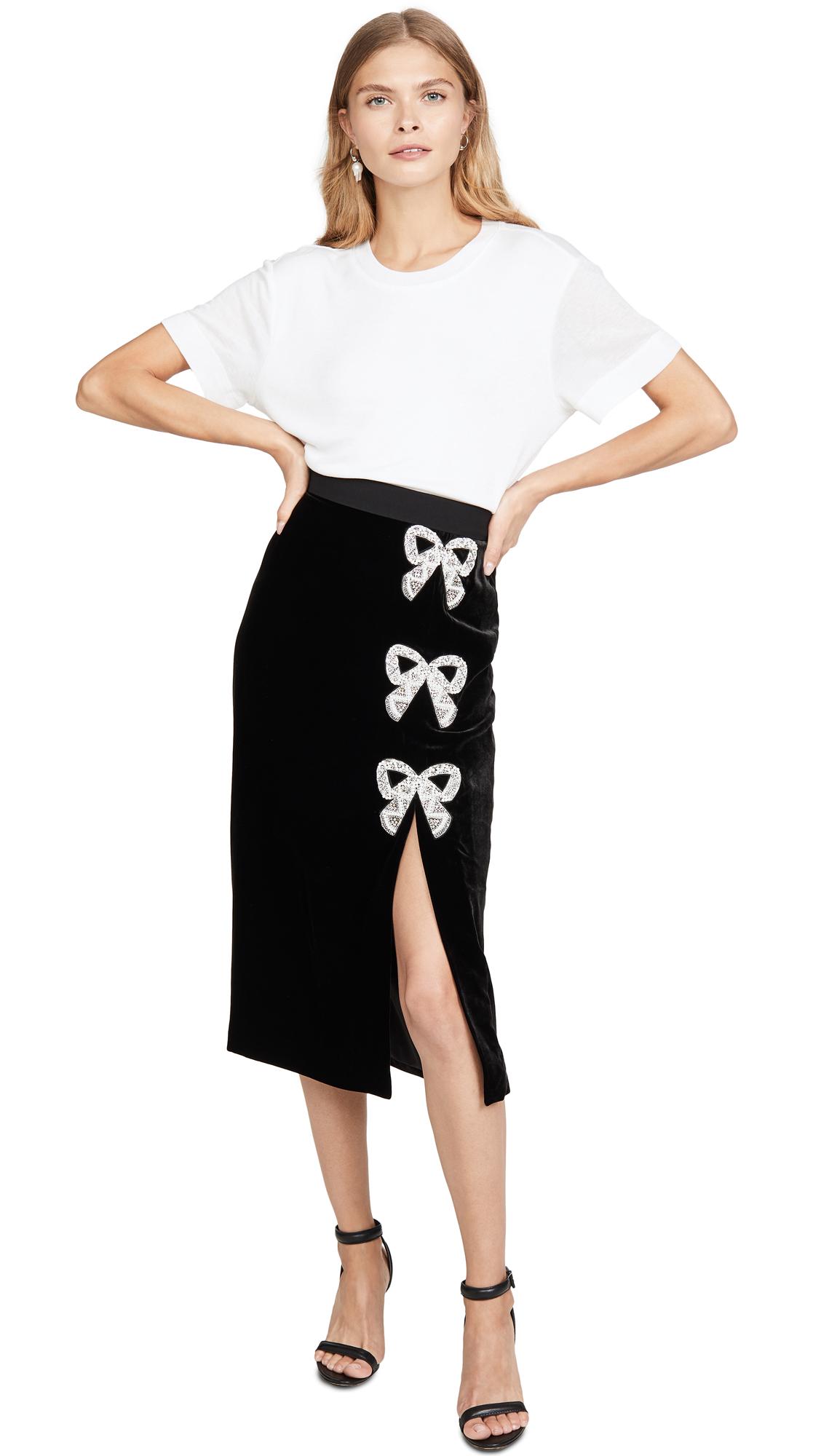 Buy Saloni online - photo of Saloni Kirsten Bows Skirt