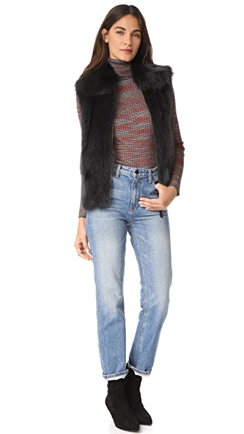 SAM. Lola Fox Fur Vest