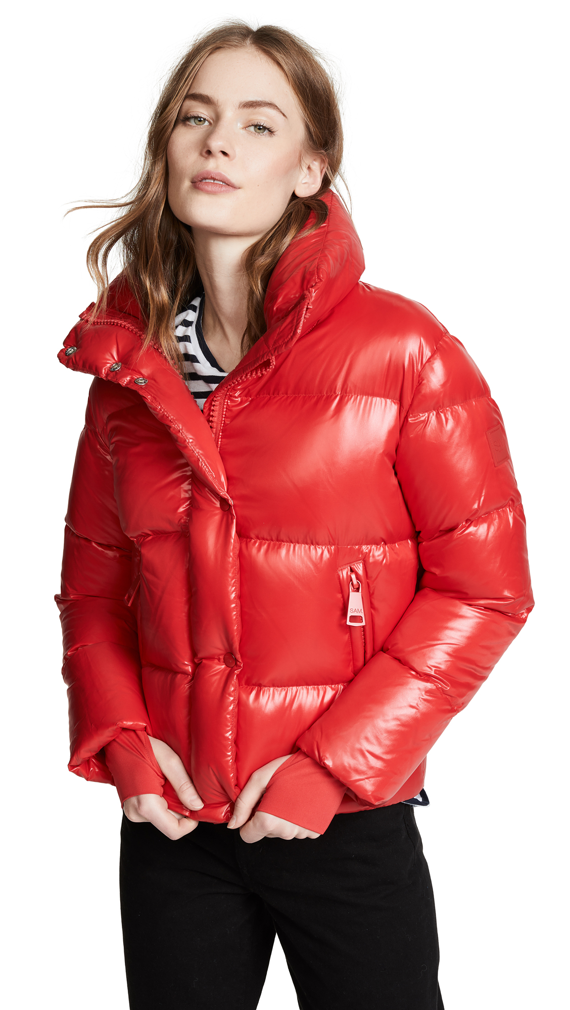 SAM. Andi Short Down Jacket in Cherry/Fiji