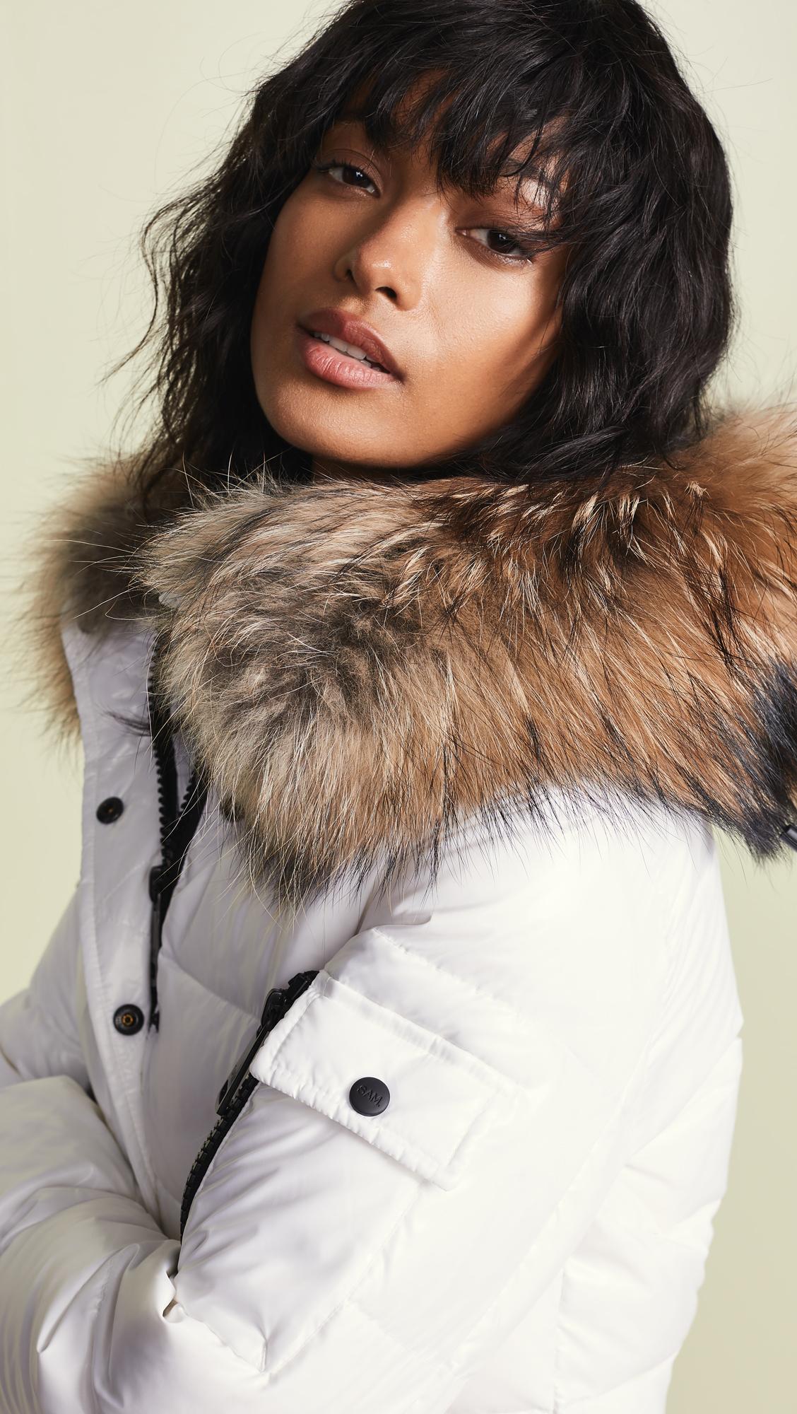 6ae8d04ee SAM. Skyler Short Down Jacket with Fur | SHOPBOP