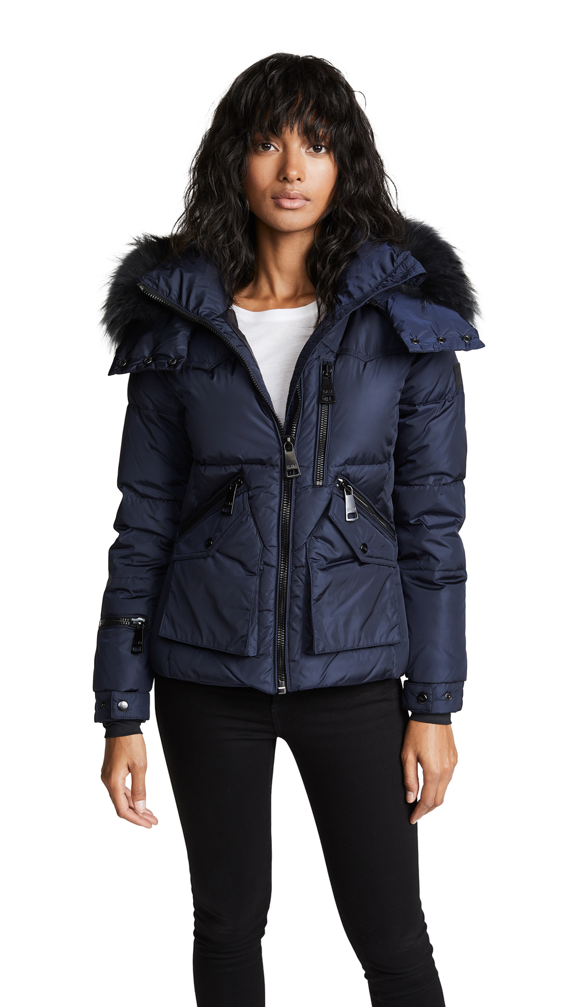 SAM. Fur Jetset Short Down Jacket