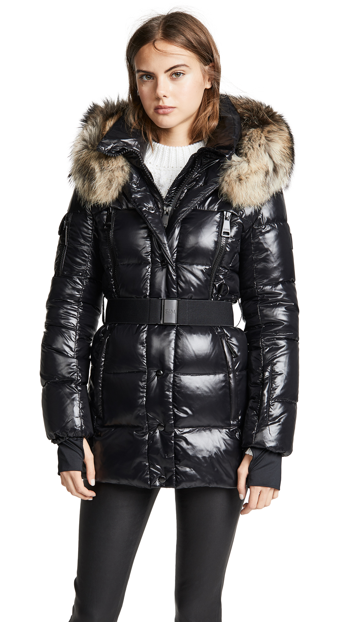 SAM Millennium Long Down Jacket in Jet