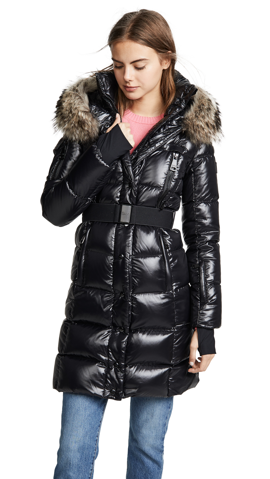 SAM. Infinity Long Down Jacket In Jet