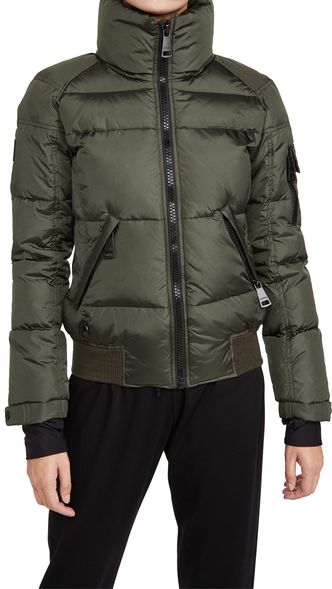 Sam. Matte Freestyle Bomber Jacket In Military