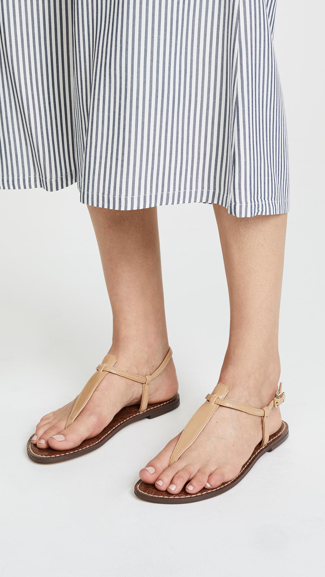 422d7f2835e6 Sam Edelman Gigi Patent T Strap Sandals