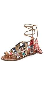 Gretchen Flat Sandals                Sam Edelman