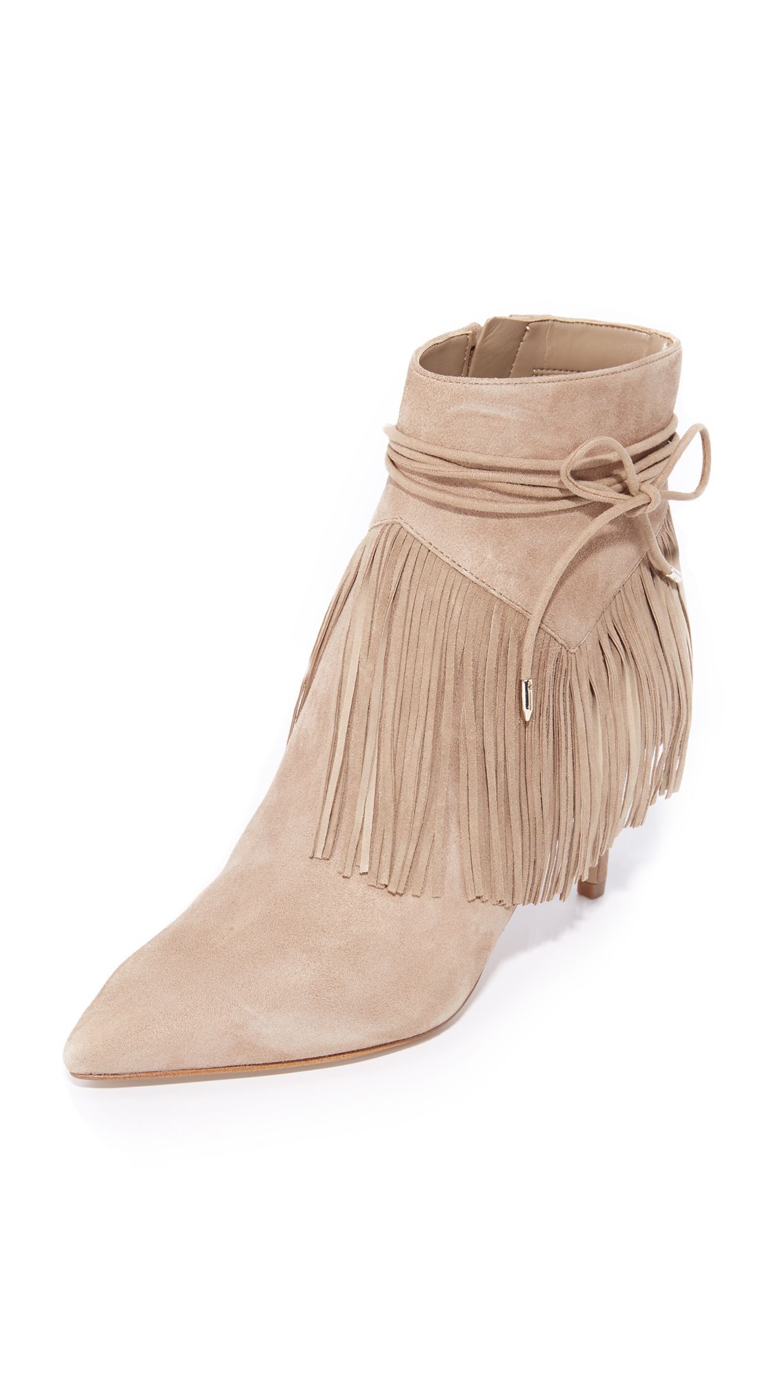 Sam Edelman Marion Fringe Booties - Oatmeal