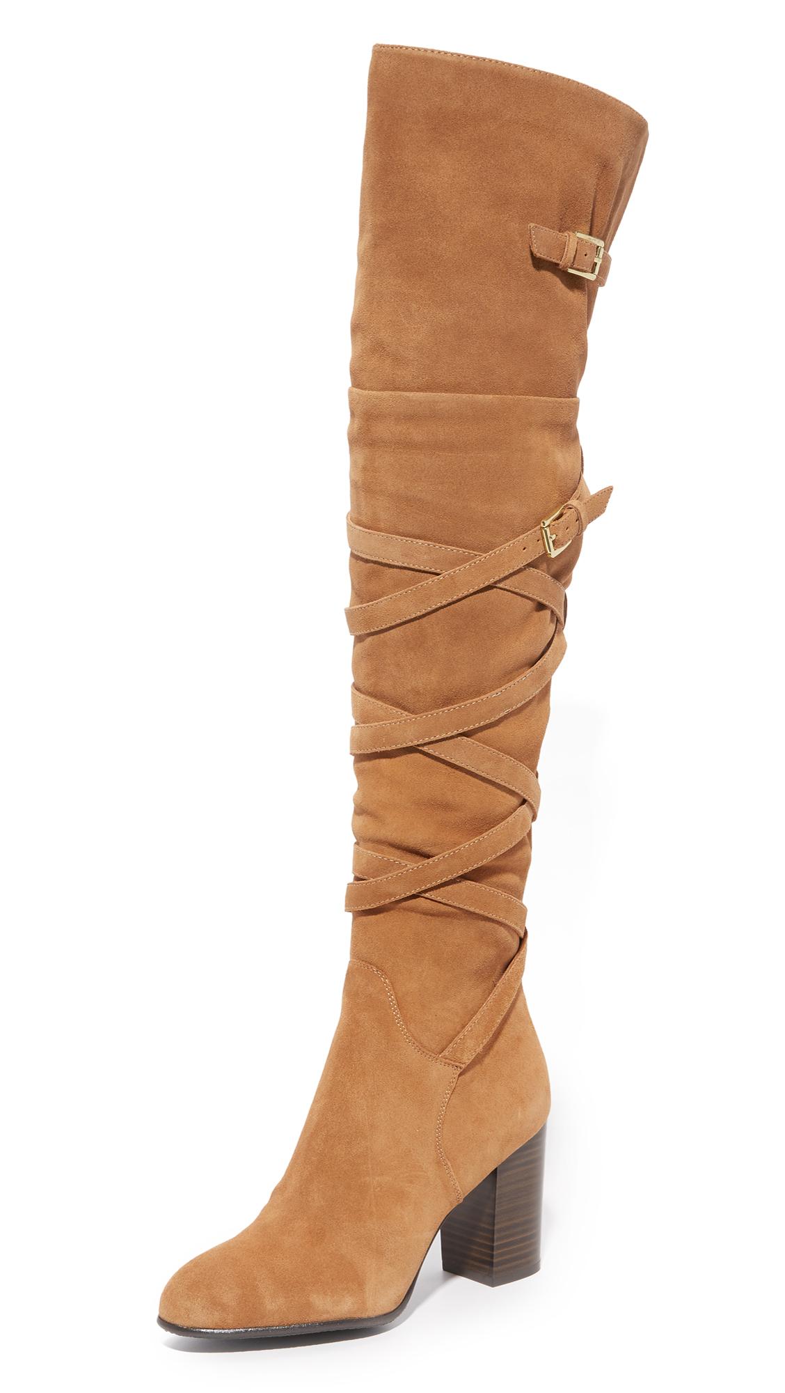 Sam Edelman Sable Over The Knee Boots - Golden Caramel