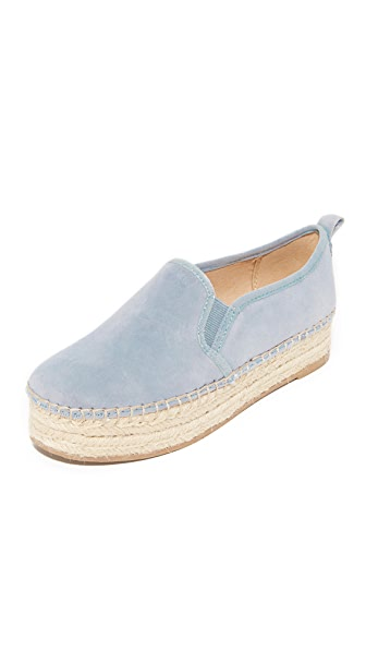 Sam Edelman Carrin Platform Espadrilles - Dusty Blue