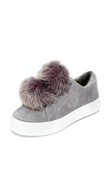 Sam Edelman Leya Faux Fur Pom Pom Sneakers