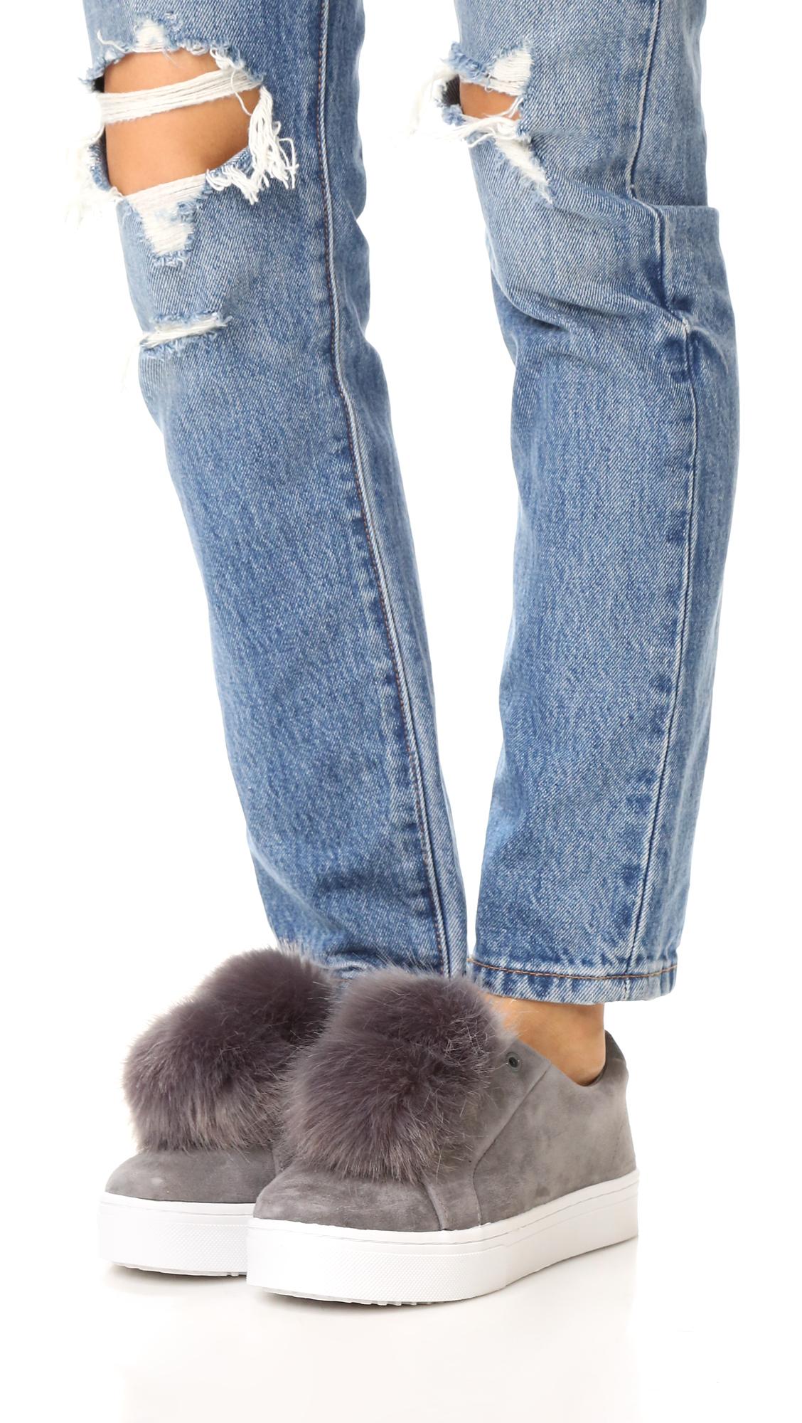 66197508a732 Sam Edelman Leya Faux Fur Pom Pom Sneakers