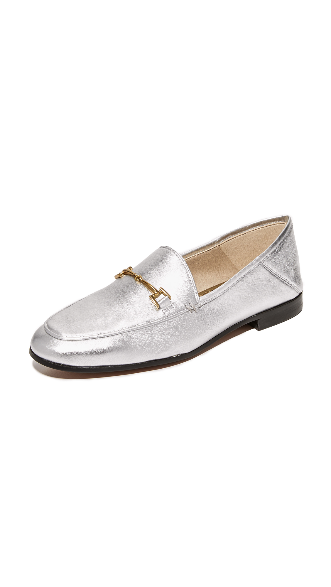 Sam Edelman Loraine Metallic Loafers - Soft Silver
