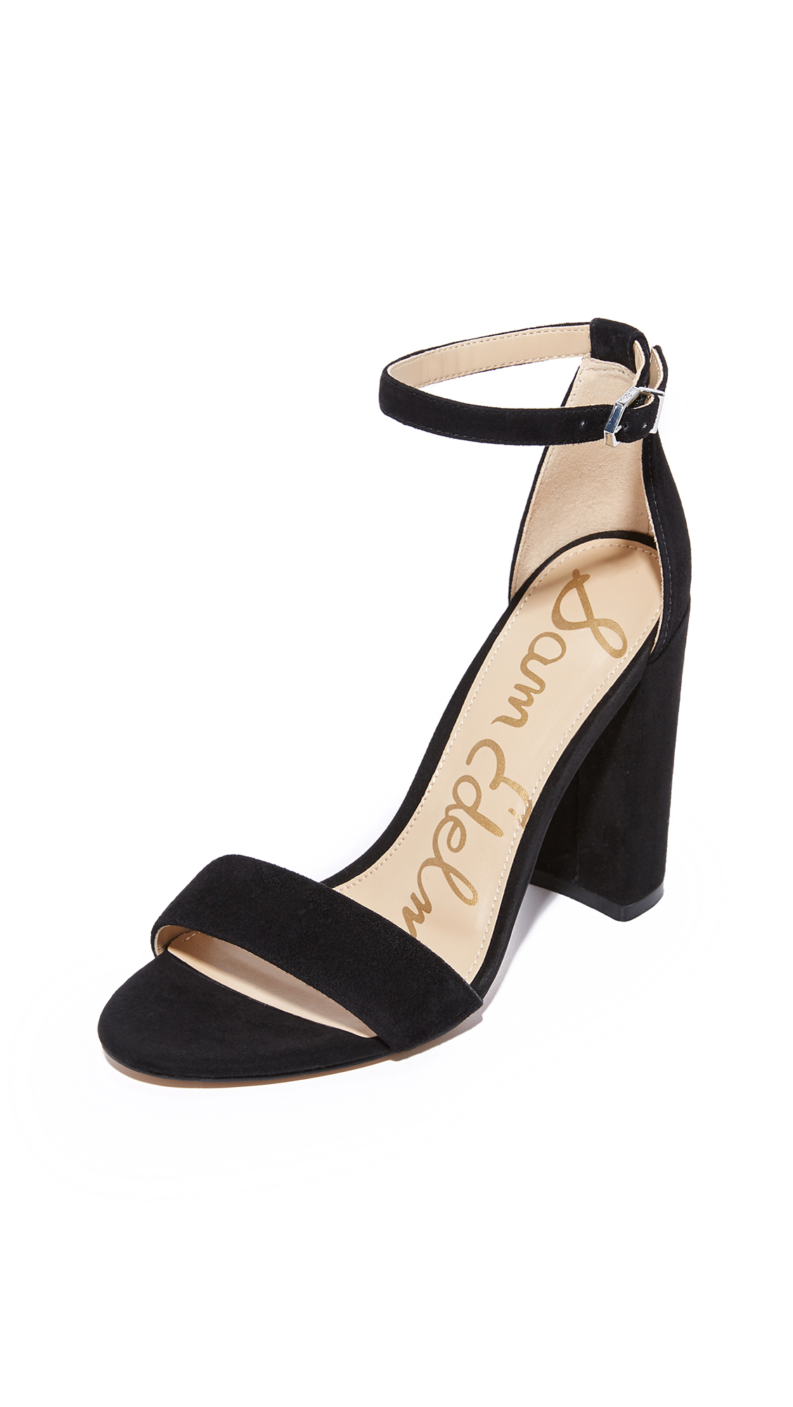 Sam Edelman Yaro Suede Sandals - Black