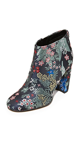 Sam Edelman Cambell Floral Brocade Booties - Grey Multi