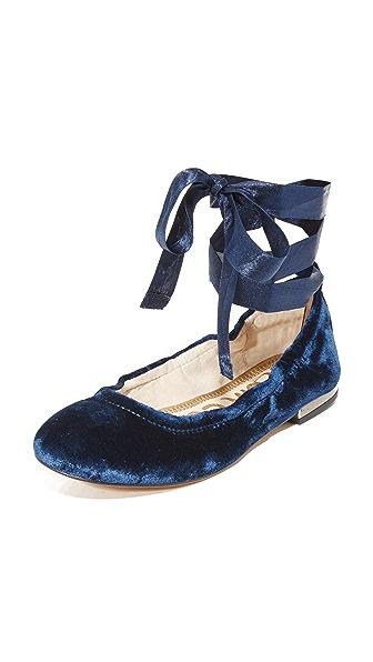 Sam Edelman Velvet Fallon Ballet Flats - Navy