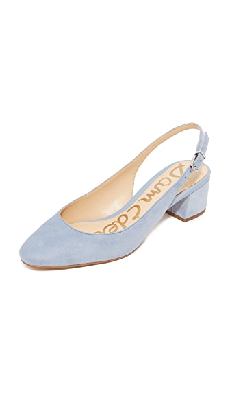 Sam Edelman Lorene Slingback Pumps - Dusty Blue