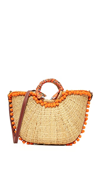 Sam Edelman Straw Beach Tote - Orange