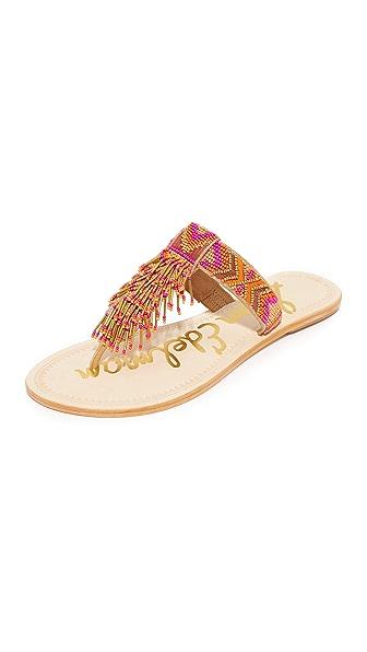 Sam Edelman Anella Beaded Sandals - Pink Multi