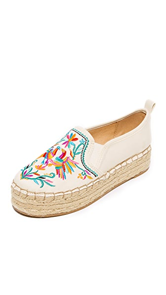 Sam Edelman Carrin II Embroidered Espadrilles - Modern Ivory Multi