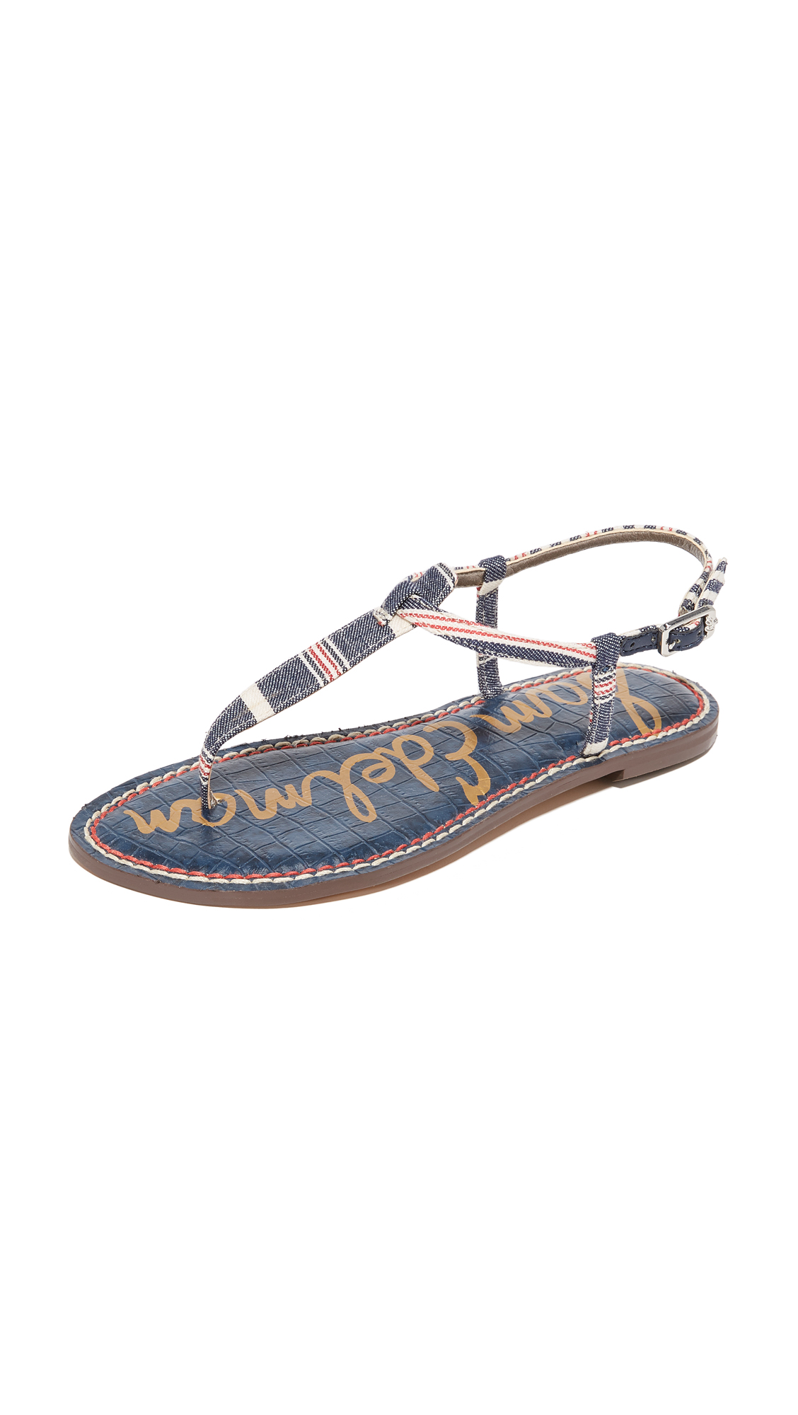 Sam Edelman Gigi Striped Sandals - Blue Multi