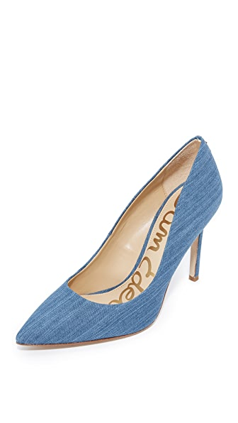 Sam Edelman Hazel Pumps - Mid Blue