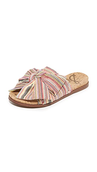 Sam Edelman Henna Bow Slides - Bright Multi