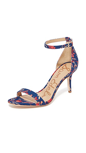 Sam Edelman Patti Floral Printed Sandals - Blue Multi