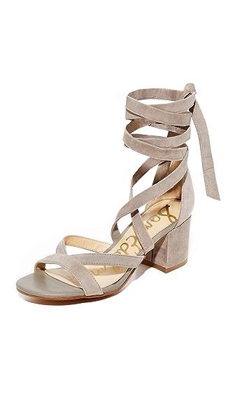 Sam Edelman Sheri Suede City Sandals - Putty