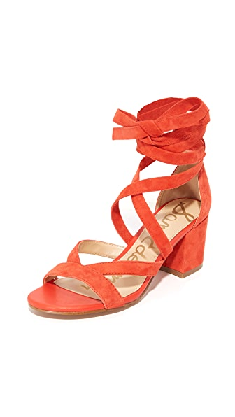 SAM EDELMAN Sheri Suede City Sandals at Shopbop