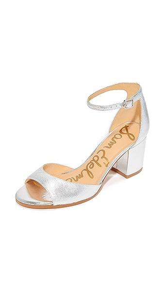 Sam Edelman Susie City Sandals - Bright Silver