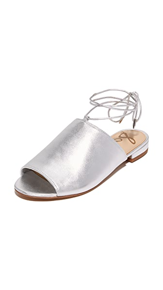 Sam Edelman Tai Sandals - Soft Silver