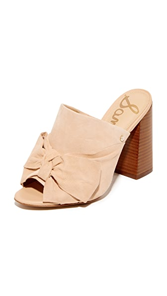 Sam Edelman Yumi Bow Mules - Natural Naked