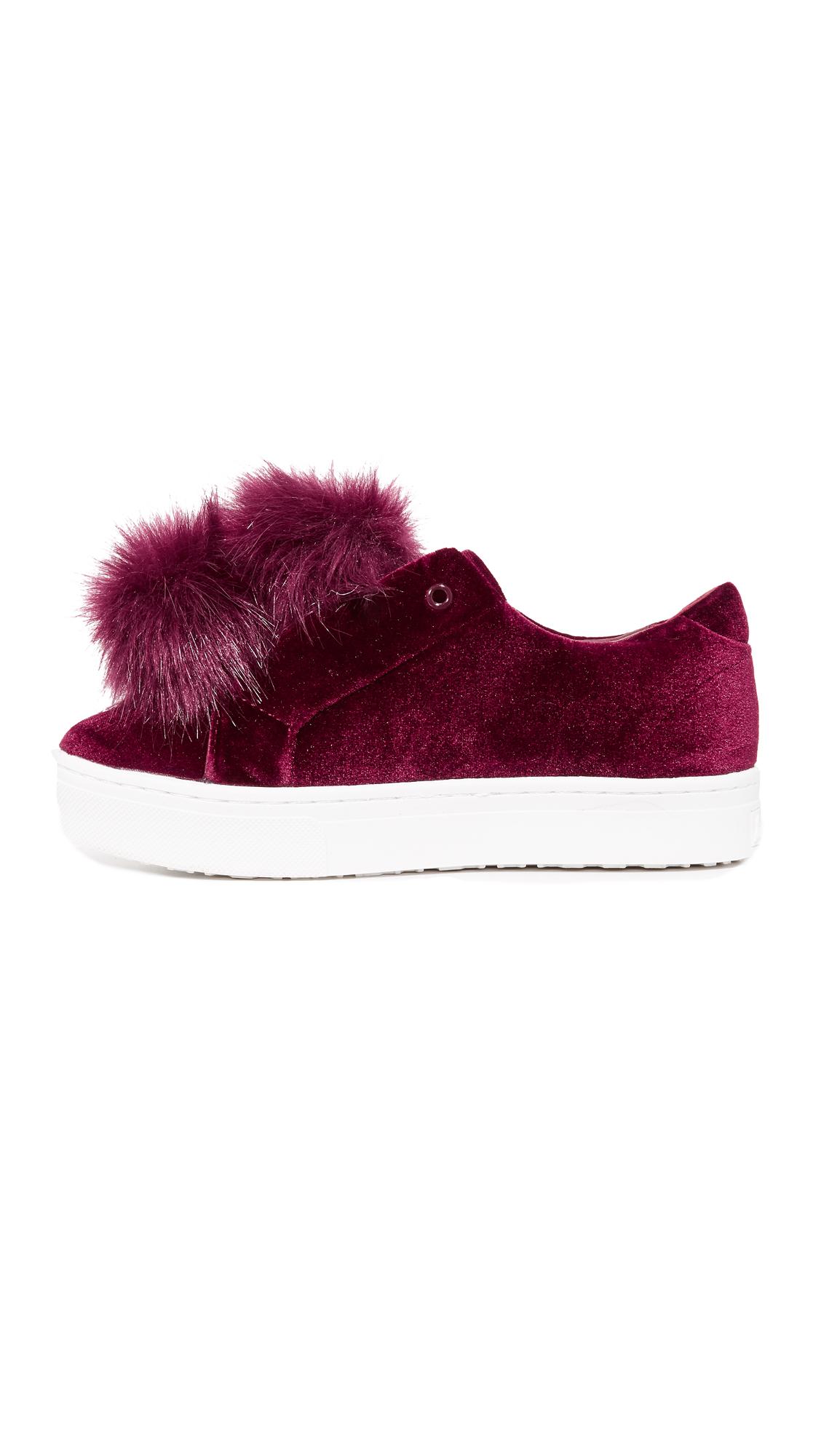 98c67f7af586 Sam Edelman Leya Velvet Pom Pom Sneakers