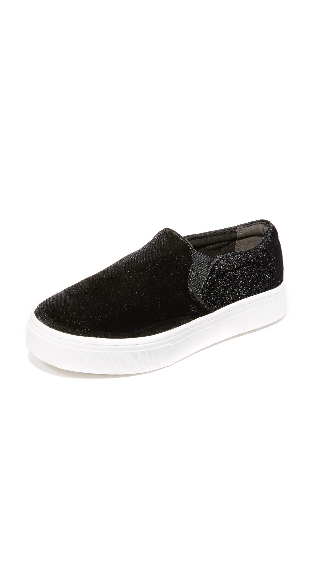 sam edelman female sam edelman lacey velvet slip on sneakers black velvet
