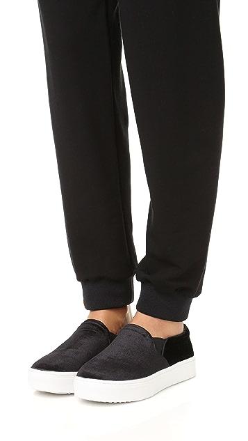 Sam Edelman Lacey Velvet Slip On Sneakers