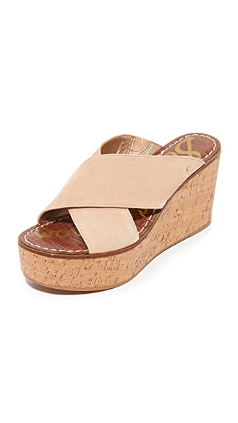 Sam Edelman Darlene Wedges In Natural Naked