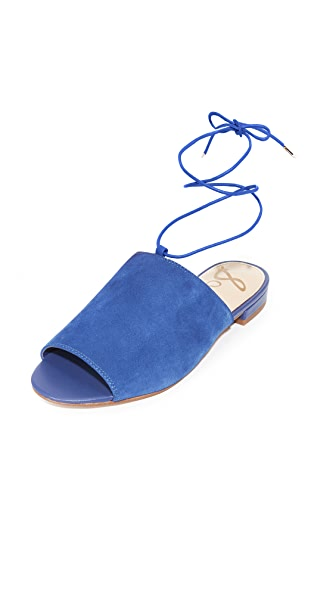 Sam Edelman Tai Suede Sandals In Nautical Blue