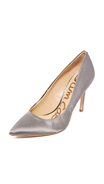 Sam Edelman Hazel Satin Pumps - Pewter