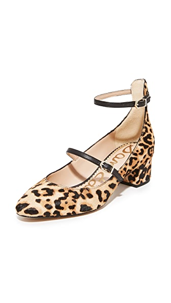 Sam Edelman Lulie Haircalf Pumps - Sand