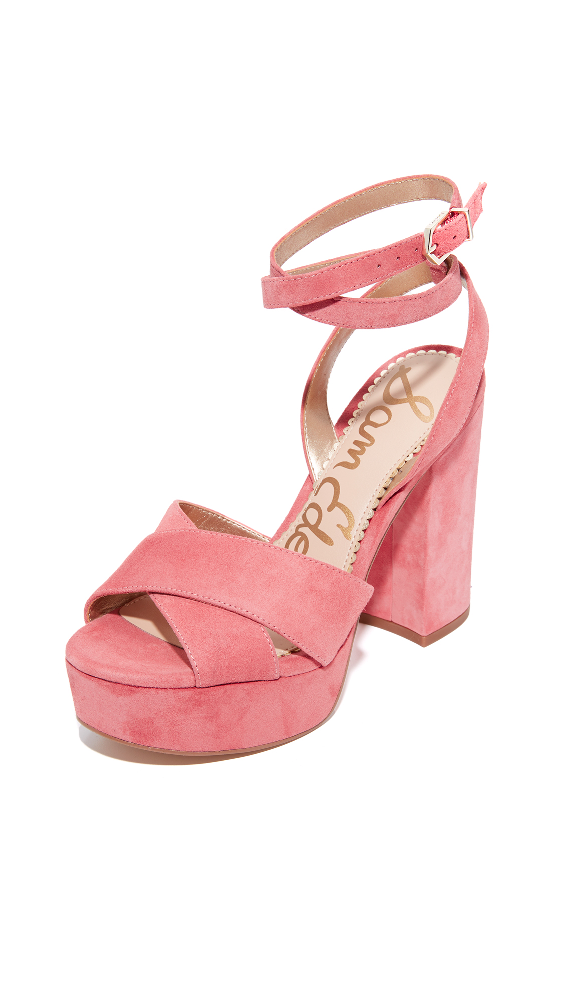 Sam Edelman Mara Platform Sandals - Washed Coral
