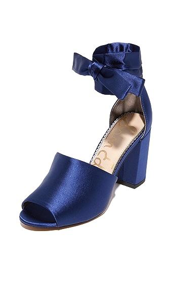 Sam Edelman Odele Sandals In Poseidon Blue