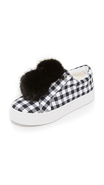 Sam Edelman Leya Gingham Sneakers - Black/White Gingham