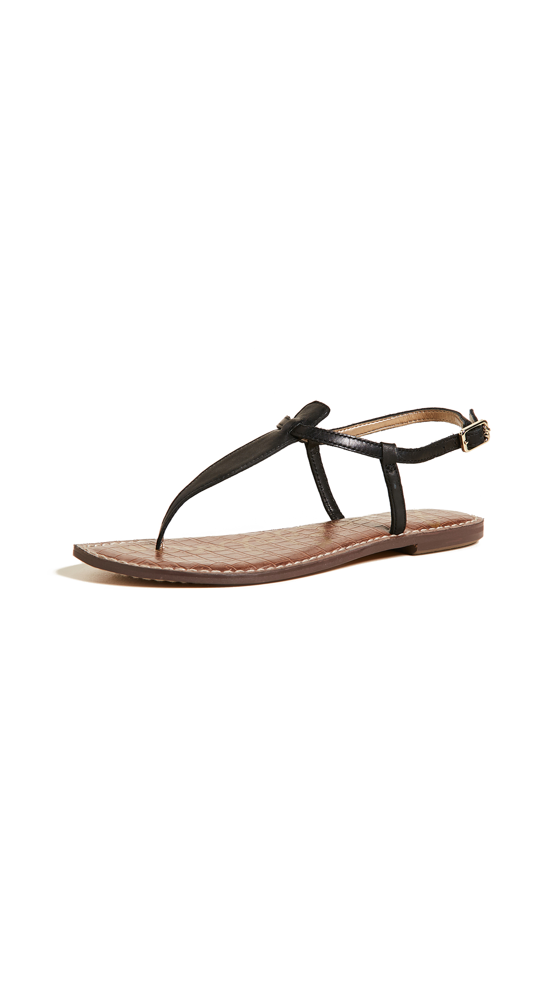 Sam Edelman Gigi Flat Sandals - Black