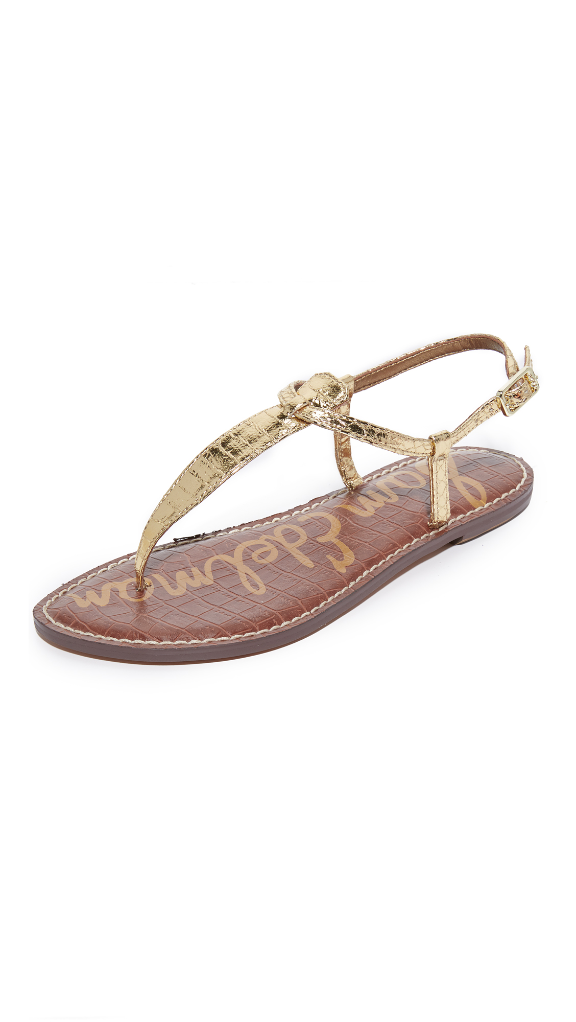 Sam Edelman Gigi Flat Sandals - Gold