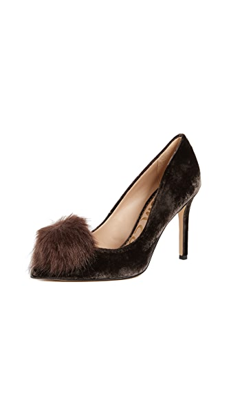 Sam Edelman Haroldson Pumps In Steel Grey
