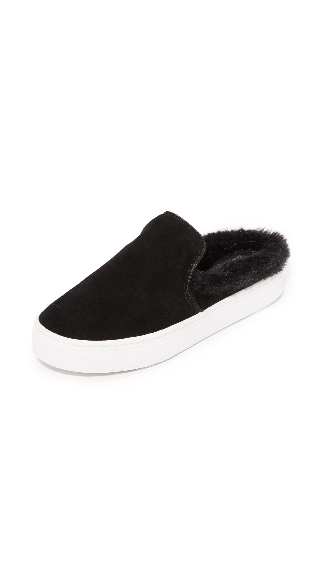 Sam Edelman Levonne Faux Fur Slip On Sneakers - Black