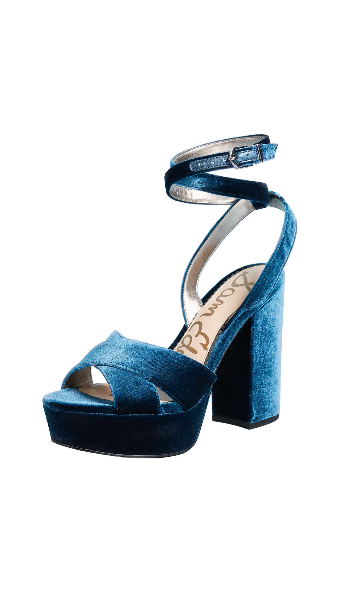 Sam Edelman Mara Platform Sandals - Jewel Blue